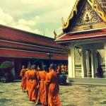Morning prayers at Wat Phra Kaew