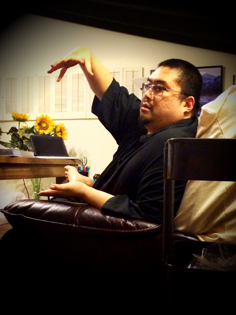 Rinpoche in the midst of illustrating a point