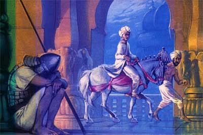 Understanding that his life in the palace was an illusion, and that any attachment with his wife Yasodhara and his son would hinder his quest to achieve ultimate liberation, Prince Siddhartha left the palace in the middle of the night aided by his trusty charioteer Channa. But not everyone is able to renounce as swiftly and compassionately as Siddhartha, so Rinpoche teaches us a method that is more suitable for our times