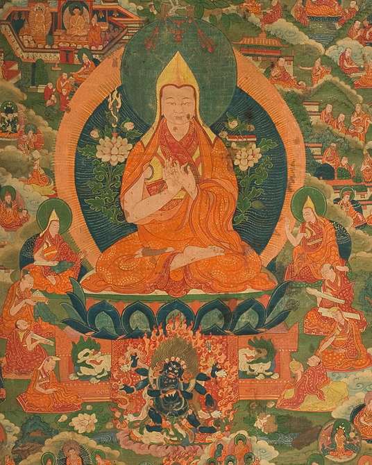 Lama Tsongkhapa taught the Three Principal Aspects of the Path (renunciation, bodhicitta, and the correct view of emptiness) which Rinpoche transmitted to us here, using relationships as an example and equilibrium as our goal