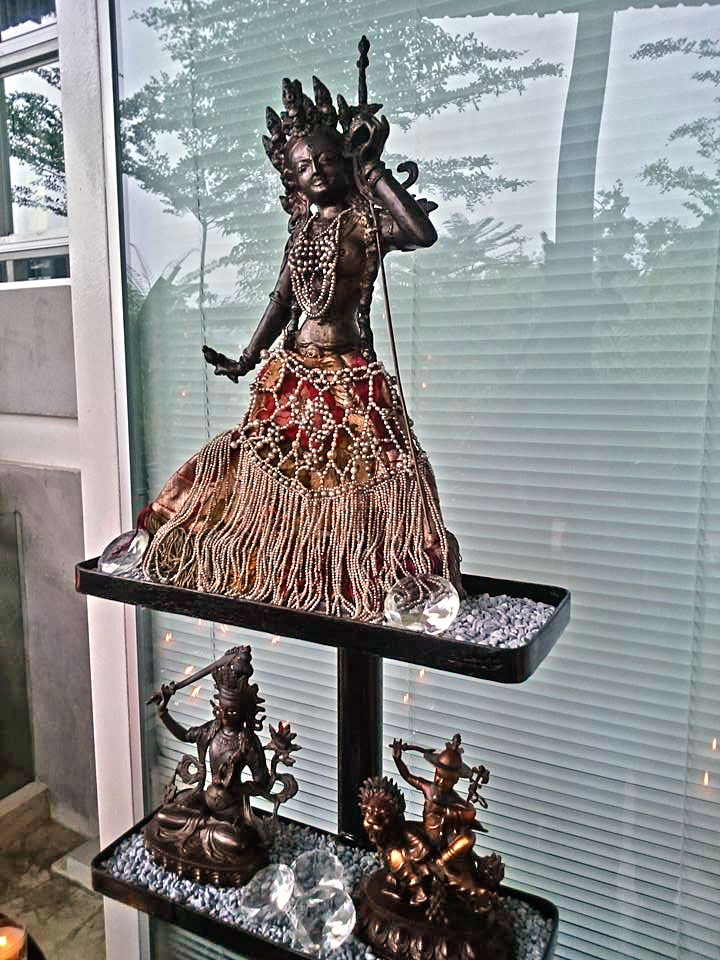 The adamantine crimson goddess herself, Vajrayogini (Neljorma). Picture courtesy of Martin Chow (http://www.facebook.com/martin.chow.73)