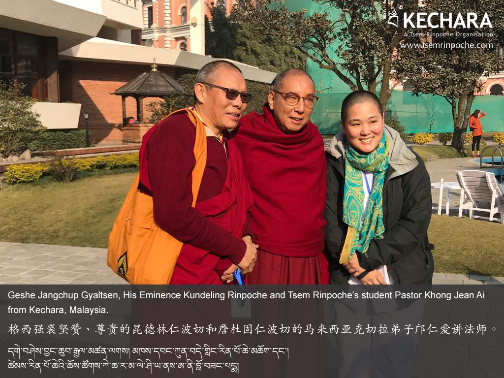With Geshe Jangchup Gyaltsen and His Eminence Kundeling Rinpoche. I was pretty starstruck...yes, they are my version of rockstars! These accomplished practitioners and eminent scholars have been hugely impactful in the Dorje Shugden movement.