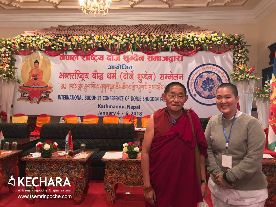 With one of my favourite people in the whole world :) Geshe Sopa-la is devoted, loyal, not afraid to speak his mind and has a very kind heart.