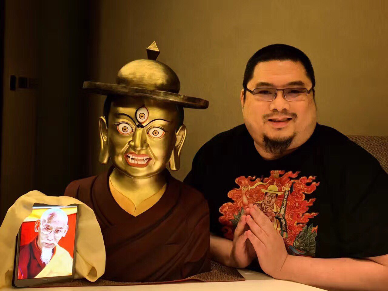 Rinpoche's relationship with Kyabje Zong Rinpoche and Dorje Shugden is rock-solid