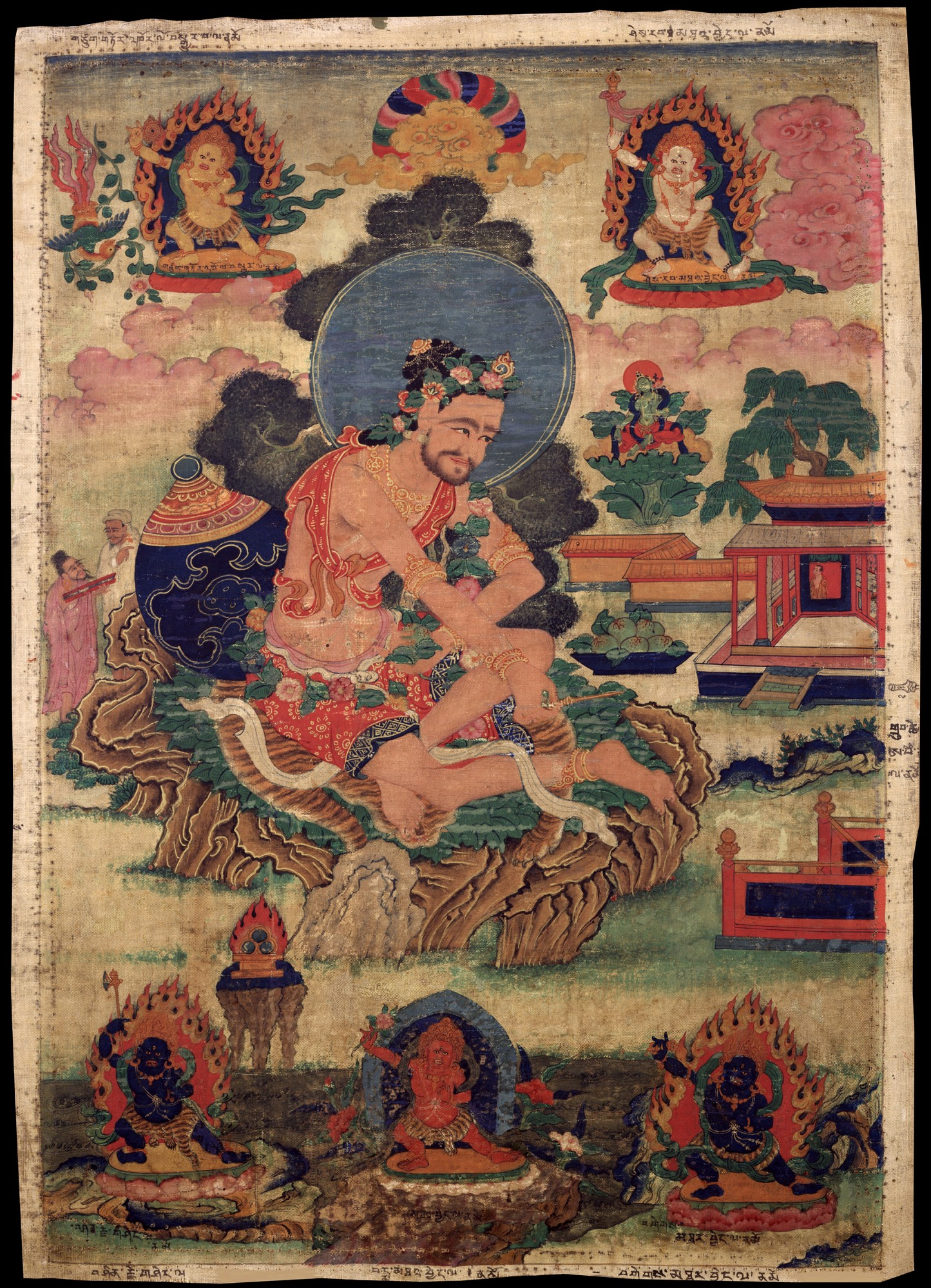 Avadhutipa, a Mahasiddha who was known to be tremendously kind to children. Click to enlarge.