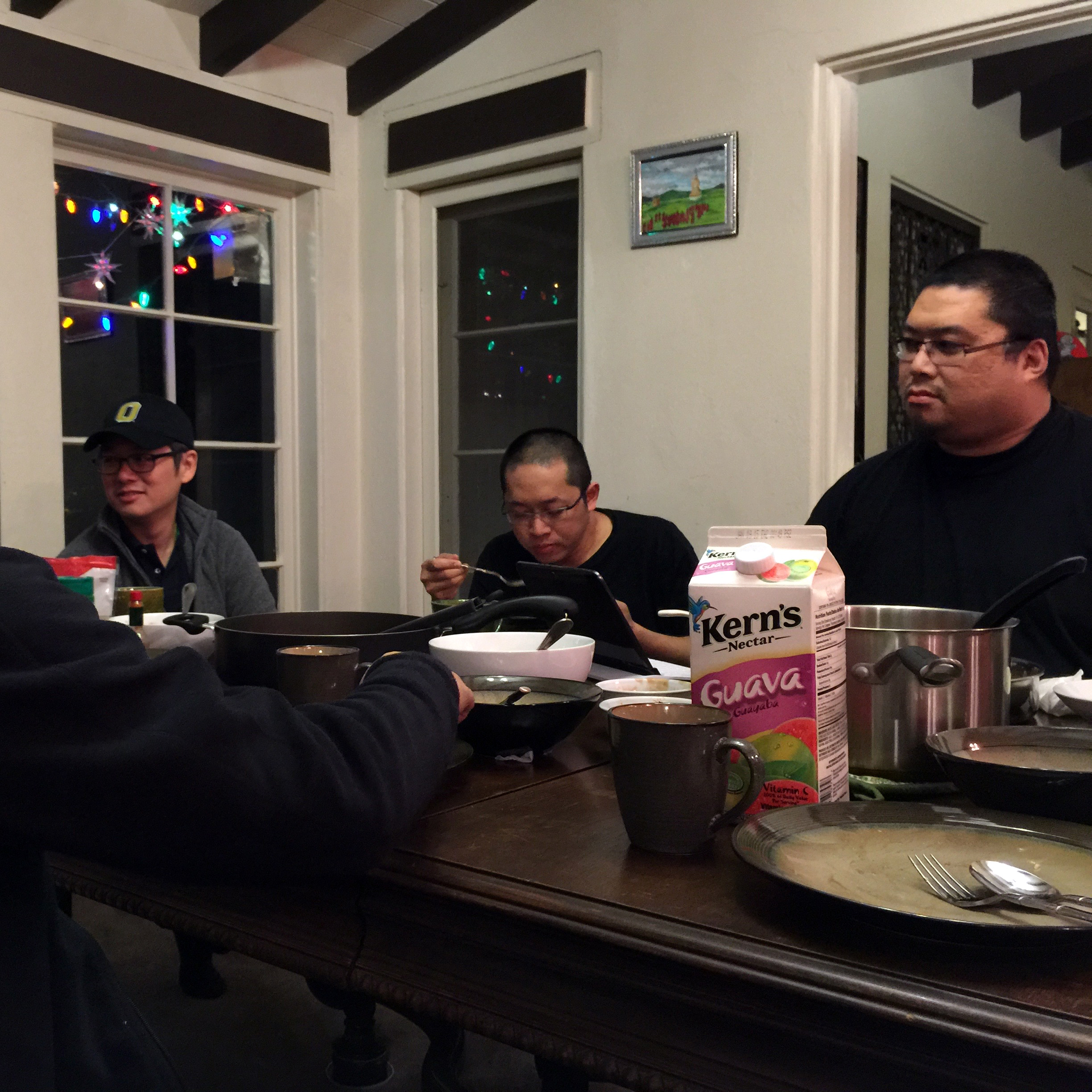 Tsem Rinpoche relaxing over a meal with some students