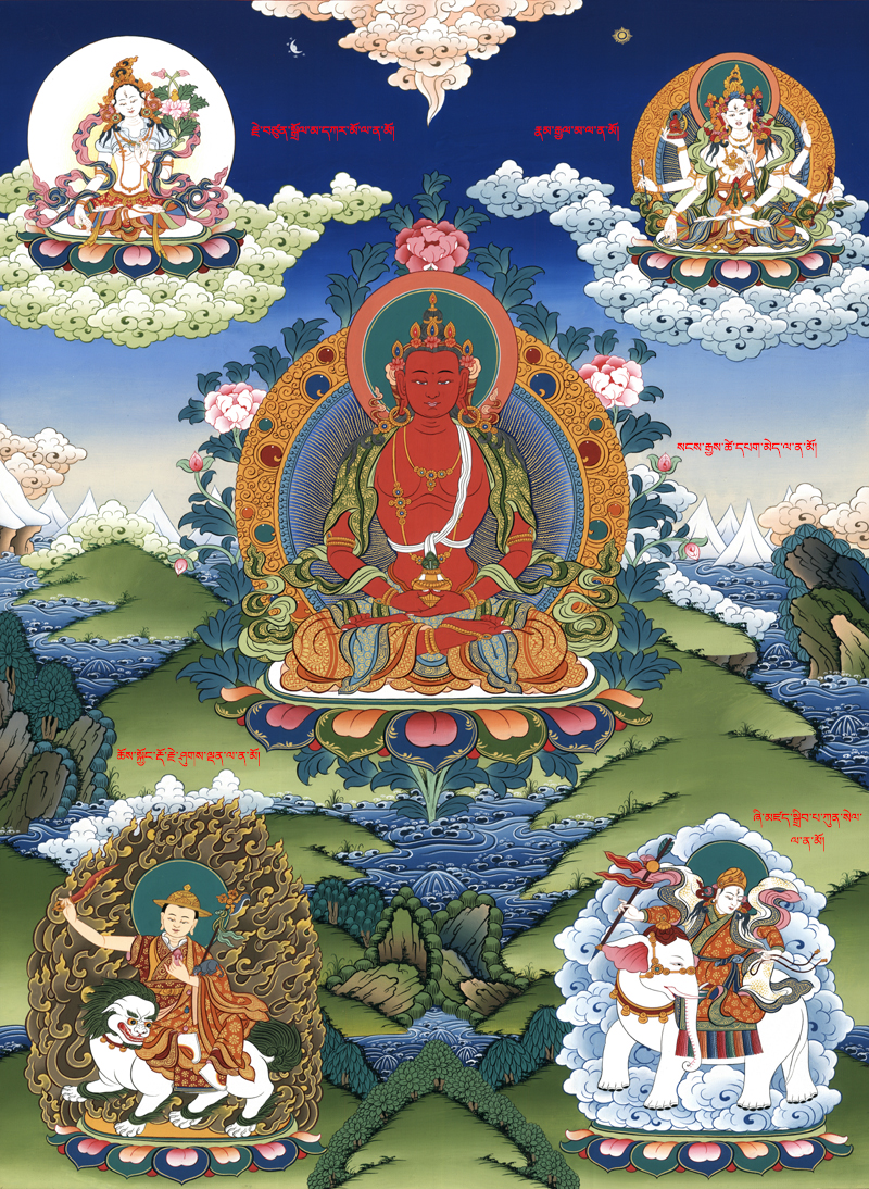 The Buddha Amitayus, one of several long-life deities in Buddhism. Click on the image to learn more about him.